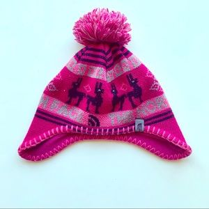 The North Face Kids Pink Beanie with Pom Pom